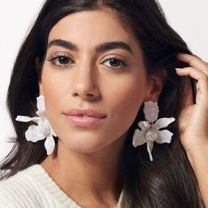 New Lele Sadoughi Crystal Lily Earrings